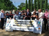 Council members, business owners and other elected officials gathered Tuesday morning to celebrate the completion of 'Phase 1' of Auburn Boulevard improvement work.