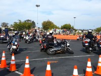 "23 police officers piled into a small coned-off square in the weekend's final ""Last Man Standing"" event."
