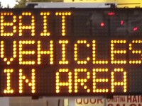 Signs warn of bait vehicles in area - Citrus Heights