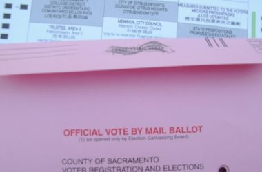 Vote-by-mail ballot, stock photo. Photo credit: Luke Otterstad