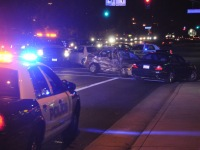 Several cars collided at the intersection of Greenback Lane and Sunrise Boulevard in Citrus Heights, Thursday night.