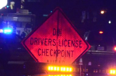 DUI Checkpoint sign. Photo by Luke Otterstad