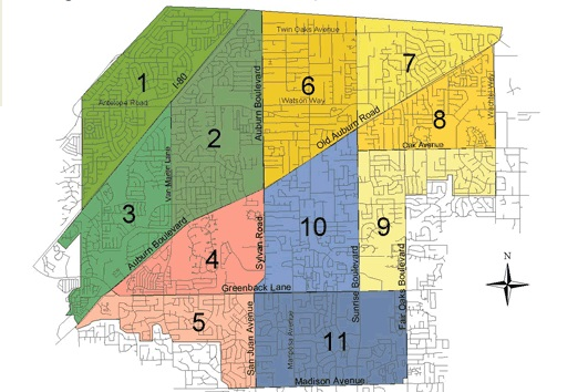 Citrus Heights Neighborhood areas