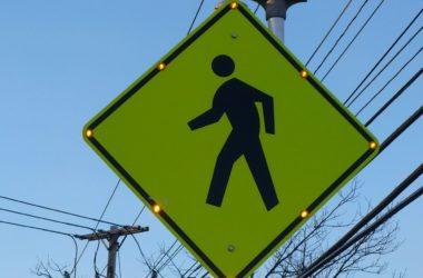 pedestrian walk sign, Citrus Heights Sentinel