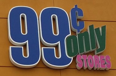 99 Cents Only store logo, 99 cents store sign. Photo by Luke Otterstad