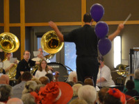 The Citrus Heights Marching Band plays for a sold-out crowd at their 2015 Spaghetti Dinner fundraiser. // CH Sentinel