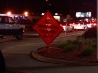 A sign on Auburn Boulevard alerted drivers of a Saturday DUI Checkpoint during a Memorial Day weekend crackdown in Citrus Heights.