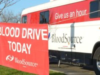 "A Blood Source ""bloodmobile"" out at Sunrise Mall during a blood drive earlier this year."