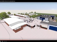 An architectural 3D rendering video shows an inside look at what a newly renovated Sylvan Middle School will look like at its new location. Image courtesy, YouTube, Lionakis
