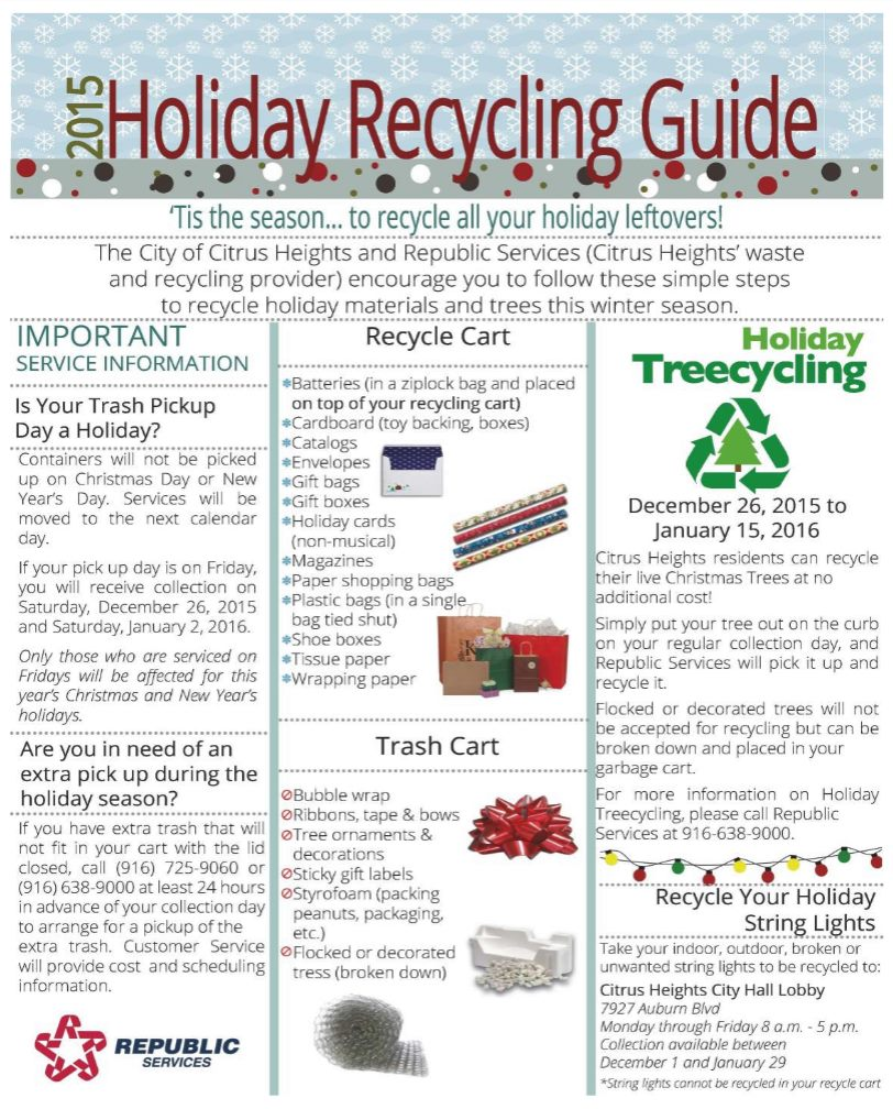Free Christmas Tree, Lights Recycling Offered In Citrus