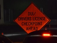 File photo, a traffic sign notifies drivers of a DUI checkpoint in Citrus Heights. // CH Sentinel