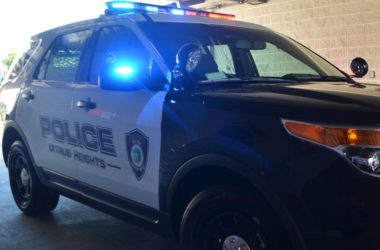 Police lights, SUV. Police interceptor
