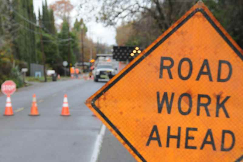 Road work ahead sign // Citrus Heights Sentinel