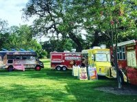 A photo of food trucks at a prior event in Rusch Park. Credit: Sunrise Recreation and Park District
