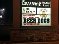 Beer Dogs restaurant signs have already popped up at Sylvan Corners, advertising the soon-to-open new eatery in Citrus Heights. // CH Sentinel