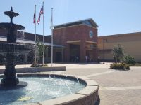 View of the fountain outside the new city hall in Citrus Heights. // CH Sentinel