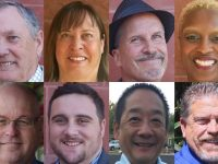 Citrus Heights 2016 City Council candidates, from left to right. Top: Rick Doyle, Amor Taylor, Jeff Slowey, Porsche Middleton. Bottom: Tim Schaefer, Marcel Weiland, Michael Nishimura, Bret Daniels. // CH Sentinel
