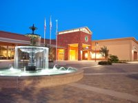 An evening view of the new city hall and fountain in Citrus Heights. // Courtesy, City of Citrus Heights, McComish Photography