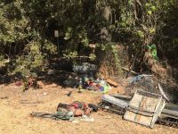 Trash reportedly left behind at a homeless camp on Sycamore Drive in Citrus Heights. // Reader photo submission