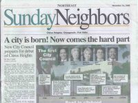An image from the front page of the Sunday Neighbor section of the Sacramento Bee from 1996, posted on the City of Citrus Heights Twitter page earlier this year.