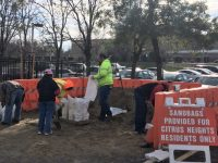 Citrus Heights residents fill up bags with sand at a station located at city hall. // Courtesy, City of Citrus Heights