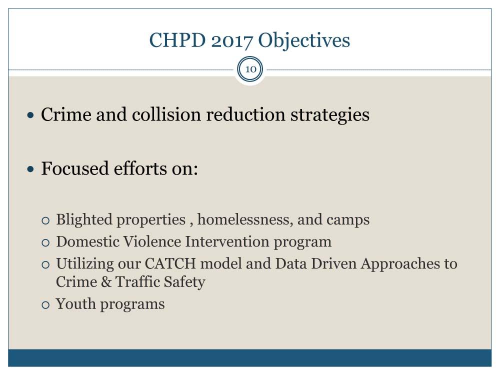 CHPD Annual Report 2016