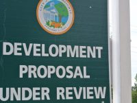 File photo, development proposal sign. // CH Sentinel