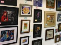A wall of paintings created by local residents is on display at the Hidden Treasures art show at Sunrise Mall through March 12. // Image credit, City of Citrus Heights