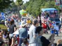 Parade-watchers line the streets for the 2017 annual Red, White and Blue parade in Citrus Heights. // CH Sentinel