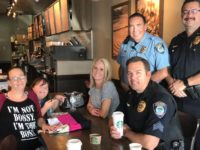 Citrus Heights police meet with residents during Coffee with a Cop at Starbucks on Wednesday. // Image courtesy, CHPD