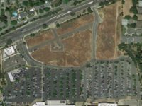 An aerial view from Google Earth of the area proposed to be developed along Auburn Boulevard.