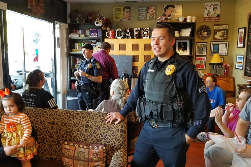 Coffee with a Cop: officers talk drones, homelessness & traffic
