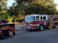 Metro Fire crews respond to a reported vegetation fire off Sycamore Drive in Citrus Heights on Monday. // CH Sentinel