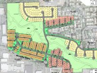 An updated map showing a 261-home development proposed off Arcadia Drive in Citrus Heights. // Image credit: City of Citrus Heights