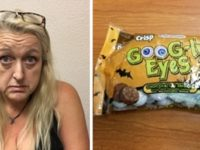Kimberly Raible, 53, was arrested by Citrus Heights police detectives after allegedly selling methamphetamine hidden in sealed Halloween candy bags. // Image courtesy, CHPD