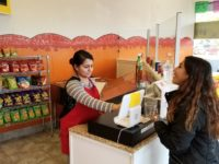 Tiffany Martinez helps a customer at her new snacks shop, Antojitos Locos, in Citrus Heights. // CH Sentinel