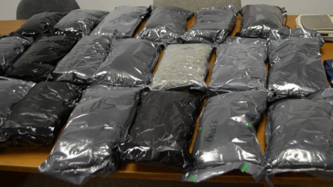 An image posted on the Sweetwater County Sheriff's Dept. Facebook page showed over 100 pounds of marijuana was seized from a minivan. // Image courtesy, SCSD.