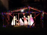 A nativity scene on display outside Celtic Cross Presbyterian Church in Citrus Heights. // CH Sentinel