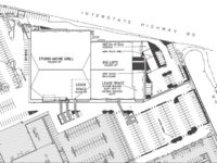 A site plan shows the proposed layout for tenants in the old Kmart building in Citrus Heights. // Image courtesy, City of Citrus Heights