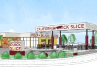 Plans submitted to the city show a new California Quick Slice pizza at an old gas station near Auburn Boulevard and Antelope Road. // Image courtesy, City of Citrus Heights