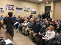 Supervisor Sue Frost speaks at a standing-room-only community meeting at Citrus Heights City Hall on Jan. 18, 2018. // Image Credit, Sue Frost