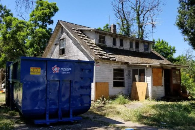 Clean-up work at the old Wheeler House in Citrus Heights has begun, following the sale of the home earlier this month. // CH Sentinel