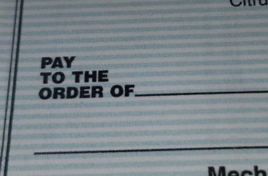 check - pay to the order of