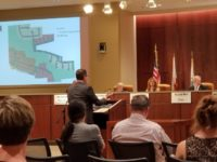 Citrus Heights Planning Commissioners listen Wednesday as a spokesman for Watt Communities addresses questions about a 260-home development proposed off Arcadia Drive. // CH Sentinel