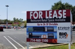 A sign outside 8501 Auburn Blvd. advertises lease options for the old  Citrus Heights Kmart building. // CH Sentinel