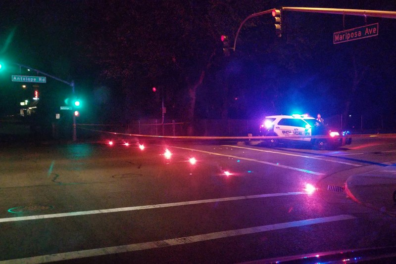 Fatal pedestrian crash, citrus heights