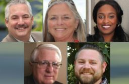 The five candidates running for Citrus Heights City Council in 2018 are, from left to right: Steve Miller (top), Jeannie Bruins, Porsche Middleton. Bottom, Al Fox, Treston Shull.