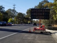A sign announces upcoming night work on Antelope Road. // Citrus Heights Sentinel