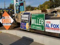 Signs and even billboards for Citrus Heights City Council candidates have appeared around town, including these at the intersection of Antelope Road and Auburn Boulevard. // CH Sentinel