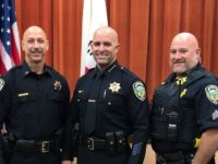 Former Citrus Heights Police Lt. Ryan Kinnan, middle, now serves as Chief of Police in Auburn. // Image credit: Auburn PD